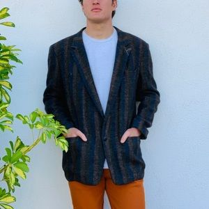 Vintage Gianni Versace Striped Mens Blazer Large